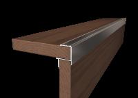 ALU-Abschlussprofil grau für Dielen & Keramik 20-21 mm 190 cm lang Abschlussschiene