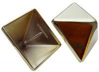 Pfostenkappe Messing 130 x 130 mm, Pyramide, mit Dorn, Kappe für Pfosten 120 x 120 mm