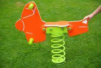 Federwippe FLUGZEUG - orange -