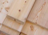 Glattkantbrett 27x120 mm sibirische Lärche Konstruktionsholz Bretter 4-seitig glatt Länge