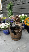 Ubbink Wasserspiel Portland Springbrunnen Set Holzfass Gartenbrunnen Brunnen