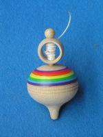 Beck 6,5x 11cm Aufzieh Kreisel mit farbigen Ringe (Mehrfarbig) 50034