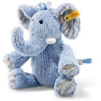 Steiff 064869 Soft Cuddly Friends Earz Elefant Kuscheltier, blau, 30 cm