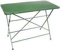 Tisch grün H74xB100xT50 cm