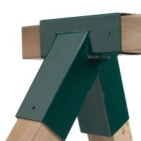 Schaukelverbinder 92x92x92 mm GRÜN Rohrverbindungsstück Stahl für Kantholz 9x9x9 cm