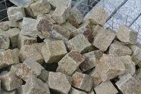 Granit Pflasterstein gelb 7 - 9 cm