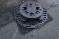 alukaschierte Gummiunterlage 200x200x5 mm für Stelzlager
