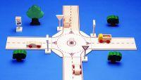 Beck Kreis-Ringverkehr Roundabout Junction (braun) 30043 ohne Deko und Autos