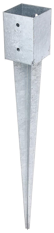 Einschlagbodenhülse aus Stahl 101x101x900 mm für Vierkantholzpfosten 100x100 mm