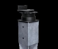 Terracon Terrassenlager FLEX für Bodeneinschlaghülsen Eindrehhülsen 91x91 mm