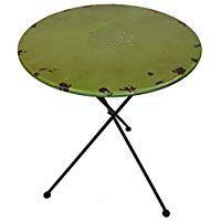 Tisch grün H75xD60 cm