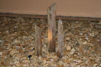 Schiefer Stele 100 bis 150 cm 1 Stück Durchmesser ca. 10-30 cm rötlich braun