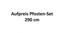 Aufpreis Pfosten-Set 290cm für Einzelcarport XL Basic B380 x T750 cm