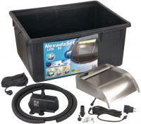 Ubbink® Wasserfall-Set Nevada 30 LED - anschlussfertig inkl. Pumpe und Becken, Fallhöhe bis ca. 80cm
