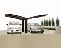 XIMAX Aluminium Design-Carport Portoforte Y-Ausführung Typ 60 Mattbraun
