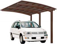XIMAX Aluminium Design-Carport Portoforte Standard-Ausführung Typ 110 Mattbraun
