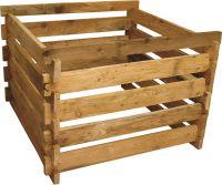 Holzkomposter 120x120xH60 cm Lärche mit Holz-Stecksystem Komposter