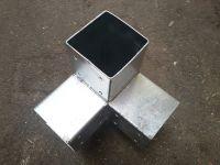 Holzverbinder Eckmodell für 3x Balken 90x90 mm VERZINKT Winkel: 90°