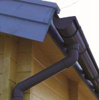 Kunststoffdachrinne für 2-seitige Dachlänge 5,5 Meter Rundrinne 78 mm Anthrazit