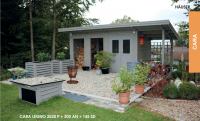 Premium Gartenhaus Cara Legno 2520 P + 300 AN + 145 SD