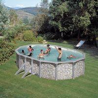 Pool-Set Feeling oval 610x375x120 cm Steinoptik