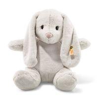 Steiff 080487 Soft Cuddly Friends Hoppie Hase Kuscheltier, hellgrau