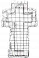 Kreuz-Gitter 50x30x4 cm Kreuzgitter Deko Grabschale Grabgestaltung für Allerheiligen Allerseelen