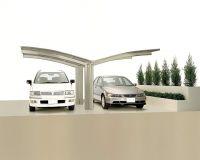 XIMAX Aluminium Design-Carport Portoforte Y-Ausführung Typ 60 Edelstahl-Look