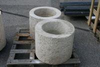 Blumentrog Granit gelb Rund Durchmesser 50 cm - Höhe 40 cm