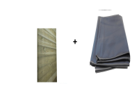 Bedachung-Set N+F-Bretter & EPDM-Folie für Carport Basic B500 x T600 cm