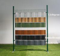 PREMIUM Sichtschutzstreifen RATTAN 2550x190x4 mm für Doppelstabmatten HART-PVC Windschutz