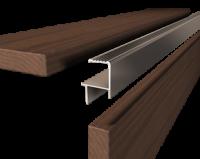 ALU-Abschlussprofil grau für Dielen 25-26 mm 190 cm lang Abschlussschiene