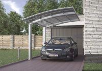 XIMAX Design-Carport Portoforte Typ 80 (Edelstahl-Look)