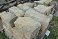 Sandstein spaltrau Naturstein Dekostein Mauerstein ca. 20x20x40 cm