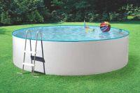 SPLASH Poolset Stahlwandbecken 360 x 90 cm weiß mit Sandfilteranlage