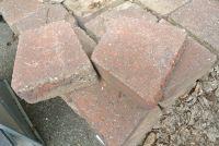 Beton Pflasterstein Trapez rot ca.20x23x9 cm