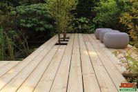 Terrassendielen sibirische Lärche 27x142x4000 mm 4-seitig glatt Glattkantbretter