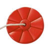 Tellerschaukel ROT Affenschaukel aus Kunststoff, Ø 280 x 40 mm, für eine Schaukelhöhe 1,80 bis 2,50