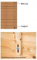 Sturmleisten Set aus Holz für das Gartenhaus Windsicherung Sturmsicherung
