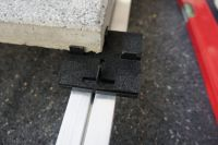 Plattenhalter-Set für Ecofix-Alu-Profile Komplett-Set inkl. Bohrschraube & Pad