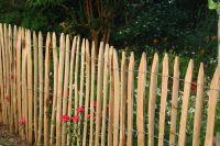 Staketenzaun französische Kastanie Höhe 50 cm Lattenabstand ca. 4-6 cm Rollzaun 5 m