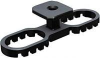 Terraflex 6mm VPEà120 mit (Edelstahlschraube A4 schwarz 5x50mm für Holz)