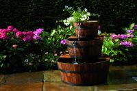 Wasserspiel Edinburgh Springbrunnen Set Holzfass Gartenbrunnen Brunnen