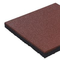 Fallschutzmatte 50 x 50 x 4,5 cm ROT Fallschutzplatte Bodenschutzmatte Gummimatte