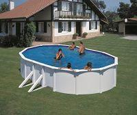 Pool-Set Feeling oval 500x300x120 cm weiß