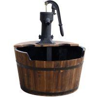 Ubbink Wasserspiel Newcastle Springbrunnen Set Holzfass Gartenbrunnen Brunnen