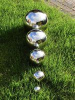 Edelstahlkugel Ø 9 cm - Dekokugel Edelstahl glänzend - Teichkugel