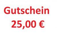 Geschenkgutschein 25,00 € Geschenk Gutschein von Gartenwelt Riegelsberger